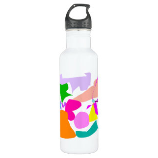 Right Crab Snow Hope Map Continent Trial.pdf 24oz Water Bottle