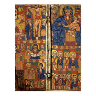 Right Diptych Panel with Virgin and Child Flanked Postcard