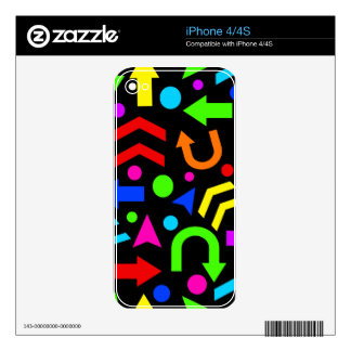 Right direction - colorful decals for iPhone 4S