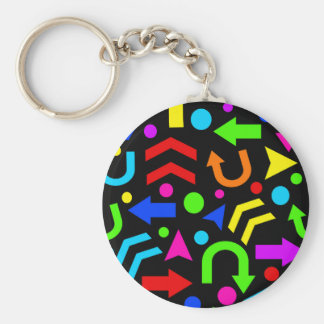 Right direction - colorful keychain