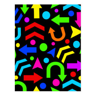Right direction - colorful postcard