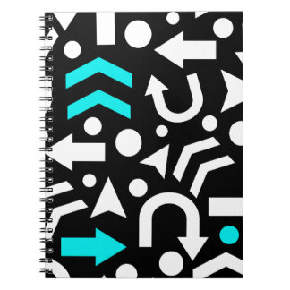 Right direction - cyan notebook