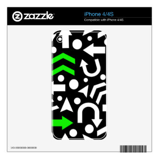 Right direction - green decals for the iPhone 4S