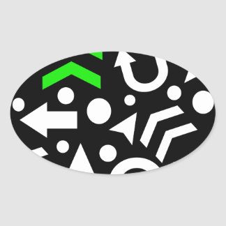 Right direction - green oval sticker