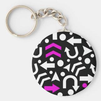 Right direction - magenta keychain