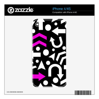 Right direction - magenta skins for iPhone 4S