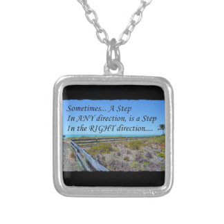 Right Direction Silver Plated Necklace