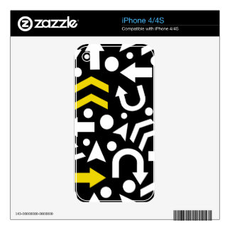 Right direction - yellow iPhone 4S decal