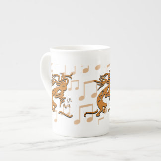 Right Facing Kokopelli Musician With Musical Notes Tea Cup
