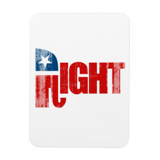 RIGHT Faded png Vinyl Magnet