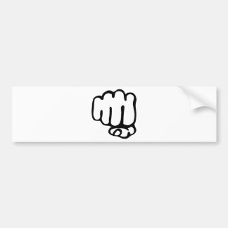 right fist icon bumper sticker