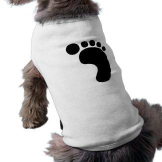 Right Footprint Dog Tee Shirt