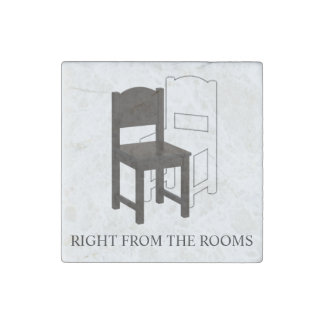 Right from the Rooms Marble Stone Magnet