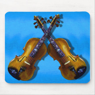 RIGHT HAND AND LEFT HAND VIOLINS -MOUSEPAD MOUSE PAD