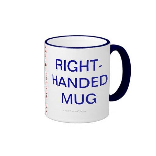 RIGHT-HANDED MUG, LEFT-HANDED MUG