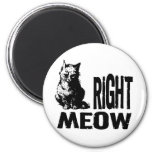 Right MEOW! Funny Evil Kitty Refrigerator Magnets