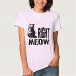 Right MEOW! Funny Evil Kitty Shirt