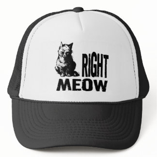 Right MEOW! Funny Evil Kitty Trucker Hat