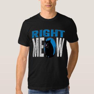 Right MEOW! Funny Kitty Cat Joke (Blue) Dresses