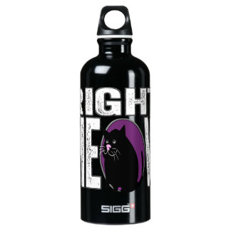 Right MEOW! Funny Kitty Cat Language Aluminum Water Bottle