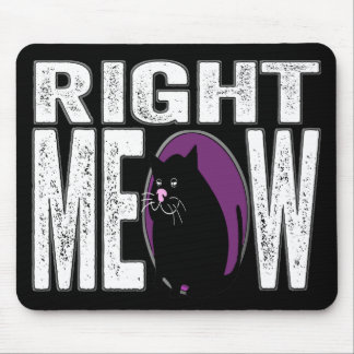 Right MEOW! Funny Kitty Cat Language Mouse Pad