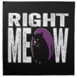 Right MEOW! Funny Kitty Cat Language Printed Napkins