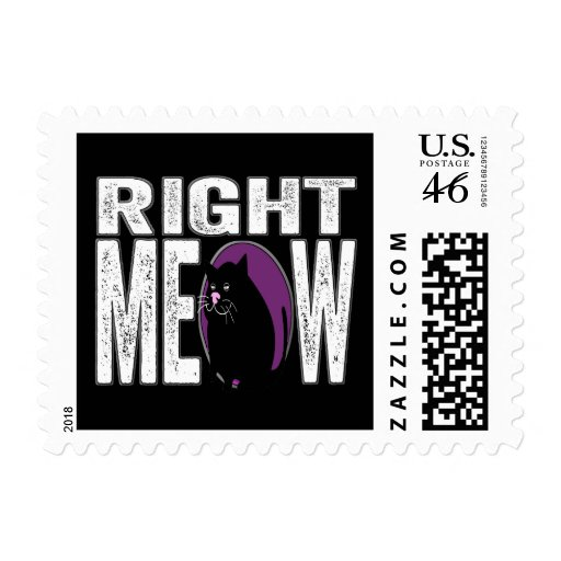 Right MEOW! Funny Kitty Cat Language Postage
