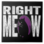 Right MEOW! Funny Kitty Cat Language Tiles