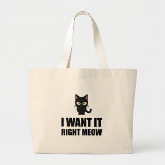 Right Meow Large Tote Bag