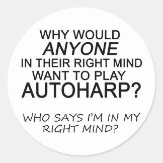 Right Mind Autoharp Classic Round Sticker
