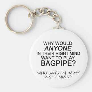 Right Mind Bagpipe Keychain