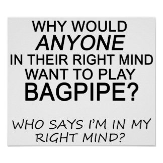 Right Mind Bagpipe Poster