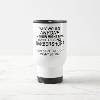 Right Mind Barbershop Travel Mug