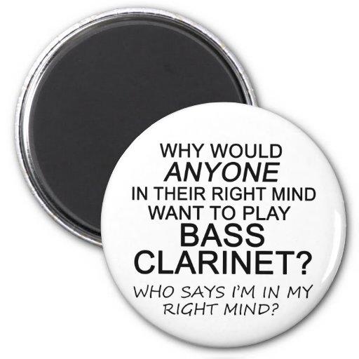 Right Mind Bass Clarinet Fridge Magnets