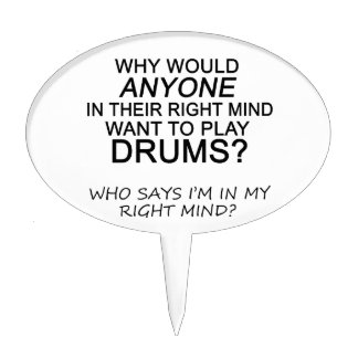 Right Mind Drums Cake Topper