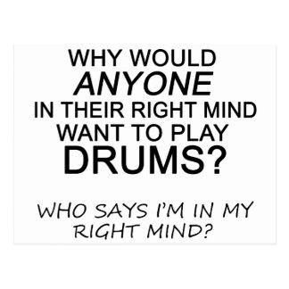 Right Mind Drums Postcard