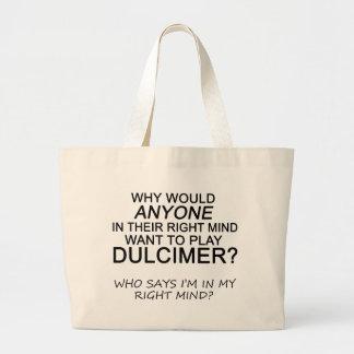 Right Mind Dulcimer Jumbo Tote Bag