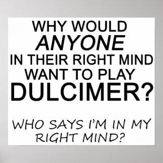 Right Mind Dulcimer Poster