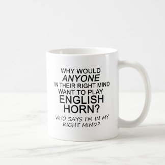 Right Mind English Horn Coffee Mug