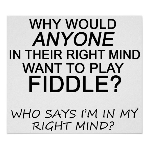 Right Mind Fiddle Poster