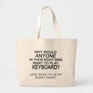 Right Mind Keyboard Large Tote Bag