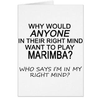 Right Mind Marimba Card