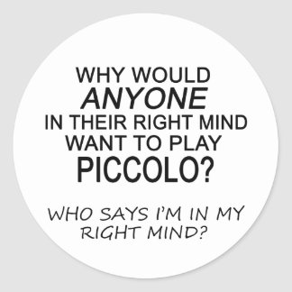 Right Mind Piccolo Classic Round Sticker