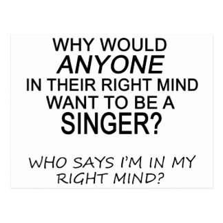 Right Mind Singer Postcard