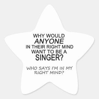 Right Mind Singer Star Sticker