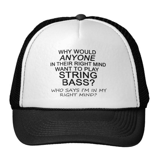 Right Mind String Bass Trucker Hat