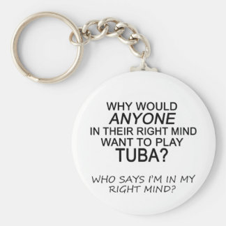Right Mind Tuba Keychain