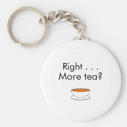 Right . . . More tea? – tea quote Keychain