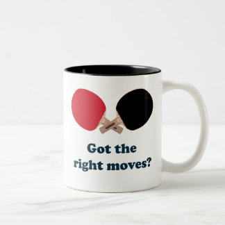 Right Moves Ping Pong Two-Tone Coffee Mug