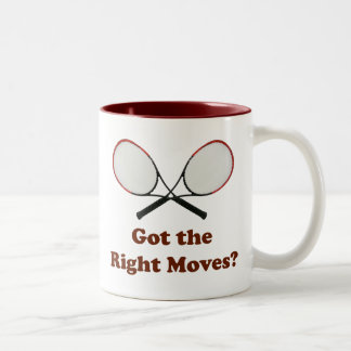Right Moves Tennis Two-Tone Coffee Mug